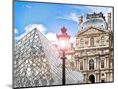 View of the Pyramid and the Louvre Museum Building, Paris, France, Europe-Philippe Hugonnard-Mounted Photographic Print
