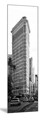 Vertical Panoramic of Flatiron Building and 5th Ave, Black and White Photography, Manhattan, NYC-Philippe Hugonnard-Mounted Photographic Print
