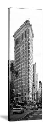 Vertical Panoramic of Flatiron Building and 5th Ave, Black and White Photography, Manhattan, NYC-Philippe Hugonnard-Stretched Canvas Print