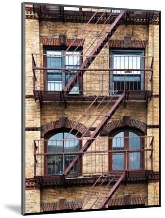 Fire Escape, Stairway on Manhattan Building, New York, US, White Frame, Full Size Photography-Philippe Hugonnard-Mounted Photographic Print