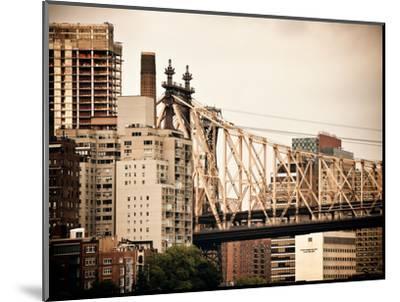 Ed Koch Queensboro Bridge, Roosevelt Island Tram Station, Manhattan, New York, Vintage-Philippe Hugonnard-Mounted Photographic Print