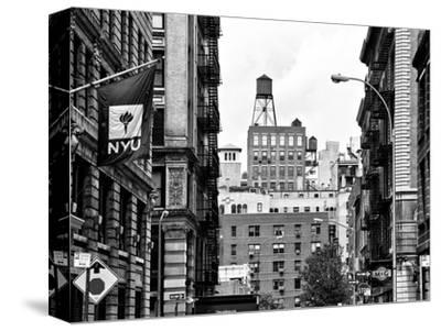 Architecture and Buildings, Greenwich Village, Nyu Flag, Manhattan, NYC-Philippe Hugonnard-Stretched Canvas Print