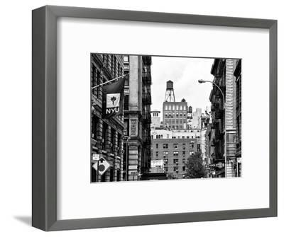 Architecture and Buildings, Greenwich Village, Nyu Flag, Manhattan, NYC-Philippe Hugonnard-Framed Photographic Print