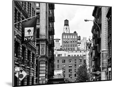 Architecture and Buildings, Greenwich Village, Nyu Flag, Manhattan, NYC-Philippe Hugonnard-Mounted Photographic Print