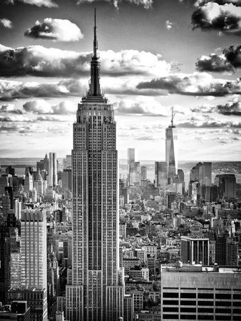 Cityscape, Empire State Building and One World Trade Center, Manhattan, NYC-Philippe Hugonnard-Premium Photographic Print