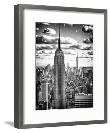 Cityscape, Empire State Building and One World Trade Center, Manhattan, NYC-Philippe Hugonnard-Framed Photographic Print