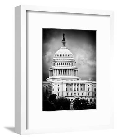 The Capitol Building, US Congress, Washington D.C, District of Columbia, White Frame-Philippe Hugonnard-Framed Photographic Print