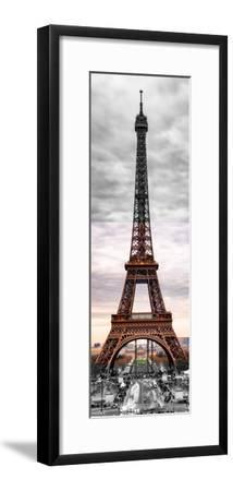 Eiffel Tower, Paris, France - Black and White and Spot Color Photography-Philippe Hugonnard-Framed Premium Photographic Print