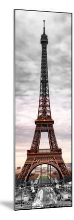 Eiffel Tower, Paris, France - Black and White and Spot Color Photography-Philippe Hugonnard-Mounted Premium Photographic Print