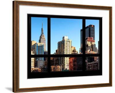 The Empire State Building and New Yorker Hotel - New York, USA-Philippe Hugonnard-Framed Photographic Print