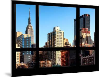 The Empire State Building and New Yorker Hotel - New York, USA-Philippe Hugonnard-Mounted Photographic Print