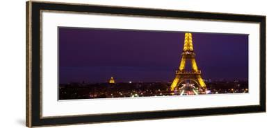 Panoramic Cityscape Paris with Eiffel Tower at Night-Philippe Hugonnard-Framed Photographic Print