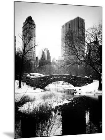 Snowy Gapstow Bridge of Central Park, Manhattan in New York City-Philippe Hugonnard-Mounted Photographic Print