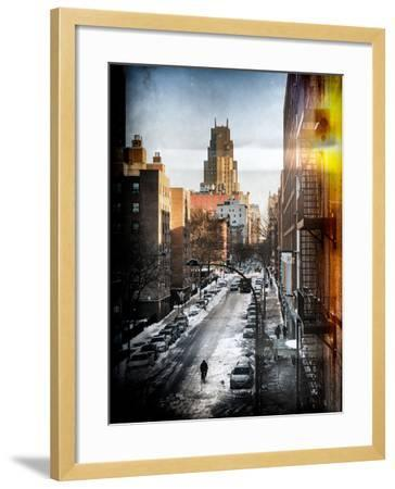 Instants of NY Series - Urban Snowy Winter Landscape-Philippe Hugonnard-Framed Photographic Print