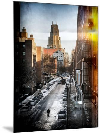 Instants of NY Series - Urban Snowy Winter Landscape-Philippe Hugonnard-Mounted Photographic Print