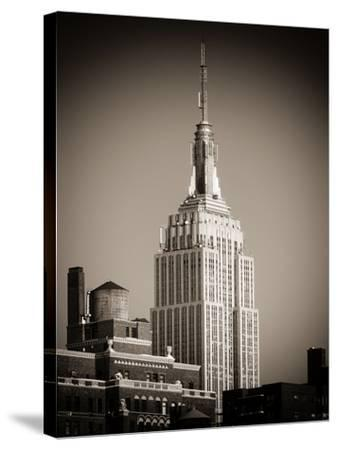 Top of the Empire State Building-Philippe Hugonnard-Stretched Canvas Print