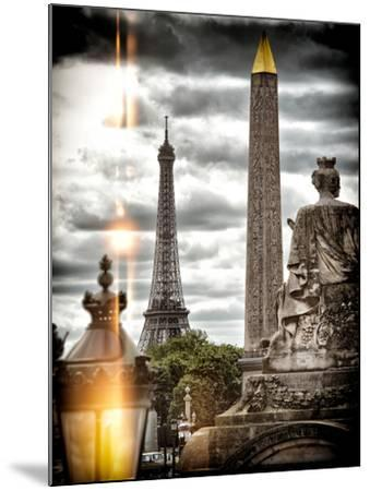 Instants of Series - Place de la Concorde with Obelisk and Eiffel Tower View - Paris, France-Philippe Hugonnard-Mounted Photographic Print