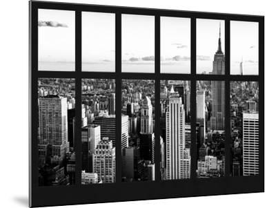 Window View - Landscape with the Empire State Building and the 1 WTC - Manhattan - NYC-Philippe Hugonnard-Mounted Photographic Print