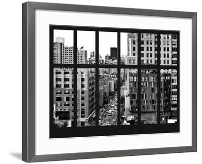 Window View - Meatpacking District with the Chelsea Market Building - Manhattan - New York City-Philippe Hugonnard-Framed Photographic Print