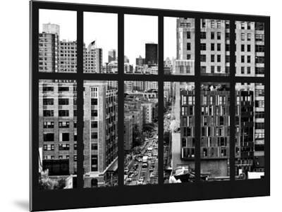 Window View - Meatpacking District with the Chelsea Market Building - Manhattan - New York City-Philippe Hugonnard-Mounted Photographic Print