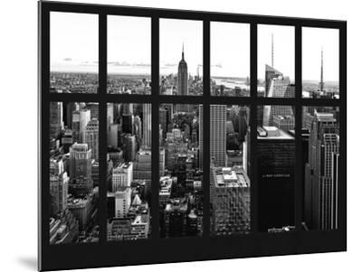 Window View - Skyline of Manhattan with the Empire State Building - Times Square - NYC-Philippe Hugonnard-Mounted Photographic Print