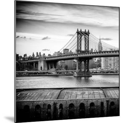Manhattan Bridge with the Empire State Building from Brooklyn-Philippe Hugonnard-Mounted Photographic Print