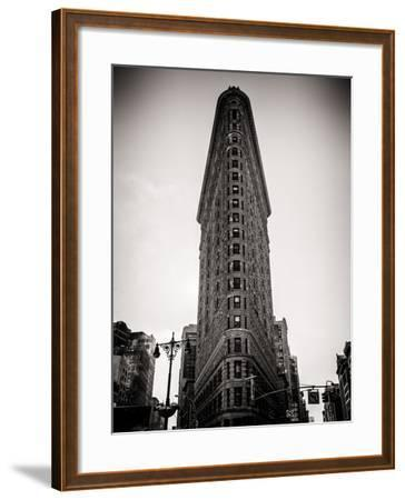 Flatiron Building Facade-Philippe Hugonnard-Framed Photographic Print