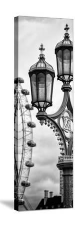 Royal Lamppost UK and London Eye - Millennium Wheel - London - England - Door Poster-Philippe Hugonnard-Stretched Canvas Print