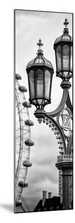 Royal Lamppost UK and London Eye - Millennium Wheel - London - England - Door Poster-Philippe Hugonnard-Mounted Premium Photographic Print