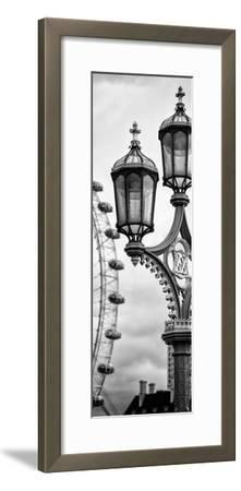 Royal Lamppost UK and London Eye - Millennium Wheel - London - England - Door Poster-Philippe Hugonnard-Framed Premium Photographic Print