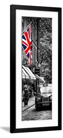 London Taxi and English Flag - London - UK - England - United Kingdom - Door Poster-Philippe Hugonnard-Framed Photographic Print