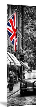 London Taxi and English Flag - London - UK - England - United Kingdom - Door Poster-Philippe Hugonnard-Mounted Photographic Print