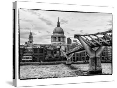 Millennium Bridge and St. Paul's Cathedral - City of London - UK - England - United Kingdom-Philippe Hugonnard-Stretched Canvas Print