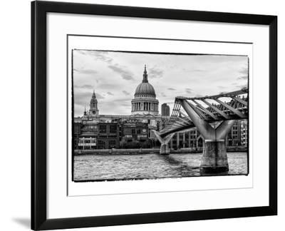 Millennium Bridge and St. Paul's Cathedral - City of London - UK - England - United Kingdom-Philippe Hugonnard-Framed Photographic Print