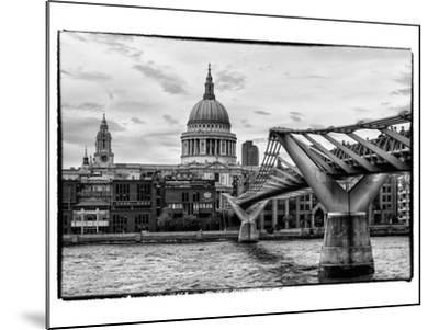Millennium Bridge and St. Paul's Cathedral - City of London - UK - England - United Kingdom-Philippe Hugonnard-Mounted Photographic Print