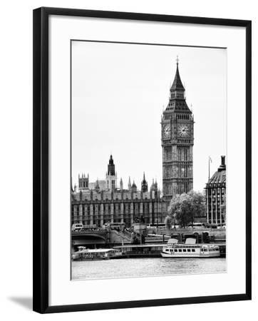 The Houses of Parliament and Big Ben - Hungerford Bridge and River Thames - City of London - UK-Philippe Hugonnard-Framed Photographic Print