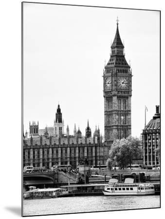 The Houses of Parliament and Big Ben - Hungerford Bridge and River Thames - City of London - UK-Philippe Hugonnard-Mounted Photographic Print