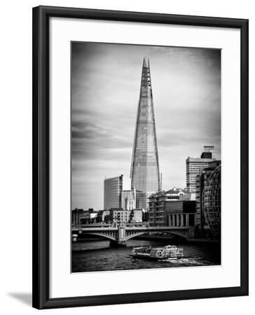 The Shard Building and The River Thames - London - UK - England - United Kingdom - Europe-Philippe Hugonnard-Framed Photographic Print