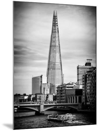 The Shard Building and The River Thames - London - UK - England - United Kingdom - Europe-Philippe Hugonnard-Mounted Photographic Print
