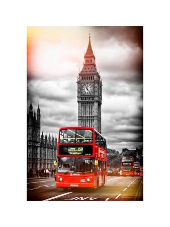 London Red Bus and Big Ben - City of London - UK - England - United Kingdom - Europe-Philippe Hugonnard-Photographic Print