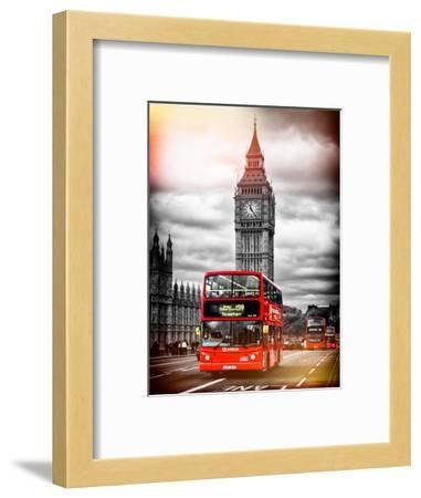 London Red Bus and Big Ben - City of London - UK - England - United Kingdom - Europe-Philippe Hugonnard-Framed Photographic Print