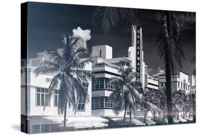 Instants of Series - Art Deco Architecture of Miami Beach - The Esplendor Hotel Breakwater-Philippe Hugonnard-Stretched Canvas Print