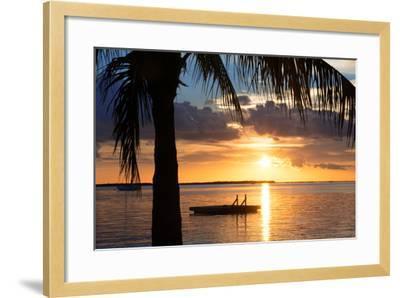 Sunset Landscape with Floating Platform - Miami - Florida-Philippe Hugonnard-Framed Photographic Print