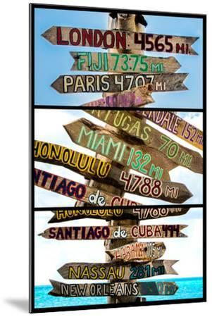 Triptych Collection - Destination Signs - Key West - Florida-Philippe Hugonnard-Mounted Photographic Print