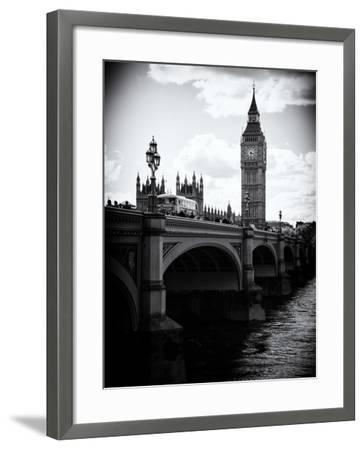 View of Big Ben from across the Westminster Bridge - Thames River - City of London - UK - England-Philippe Hugonnard-Framed Photographic Print