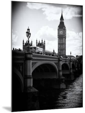 View of Big Ben from across the Westminster Bridge - Thames River - City of London - UK - England-Philippe Hugonnard-Mounted Photographic Print