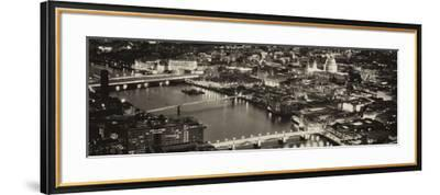 View of City of London with St. Paul's Cathedral and River Thames at Night - London - UK - England-Philippe Hugonnard-Framed Photographic Print