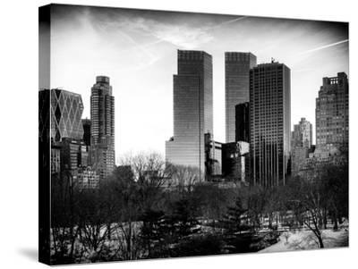 View of Skyscrapers from Central Park in Winter - Manhattan - New York City - United States - USA-Philippe Hugonnard-Stretched Canvas Print