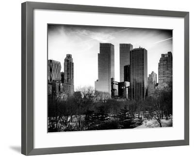 View of Skyscrapers from Central Park in Winter - Manhattan - New York City - United States - USA-Philippe Hugonnard-Framed Photographic Print