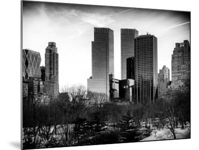 View of Skyscrapers from Central Park in Winter - Manhattan - New York City - United States - USA-Philippe Hugonnard-Mounted Photographic Print